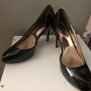 Madden Girl Black Patent D'Orsay Dress Heels- 7.5